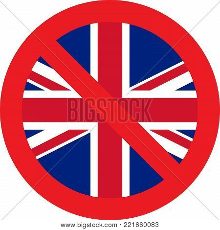 No UK allowed sign on white background