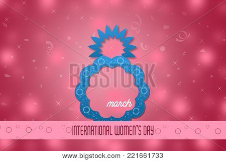 Creative 8 March design with international women's day background.Women's day symbol