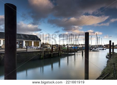 Emsworth waterfront in Hampshire on English south coast