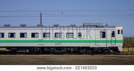 Local Train In Hakodate, Japan