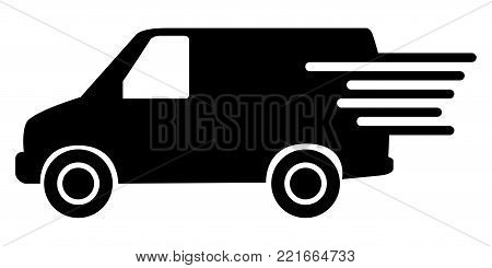 Delivery van icon on a white background, Vector illustration