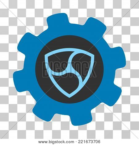 Nem Gearwheel vector pictogram. Illustration style is flat iconic symbol on a chess transparent background.