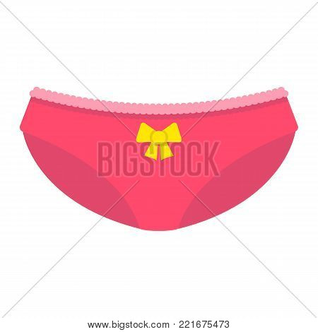 Women briefs flat icon, valentines day and romantic, women underwear sign vector graphics, a colorful solid pattern on a white background, eps 10.