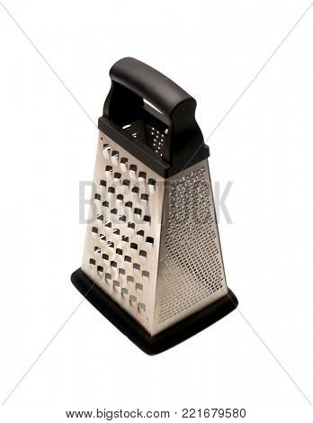 Metal kitchen grater isolated on white background