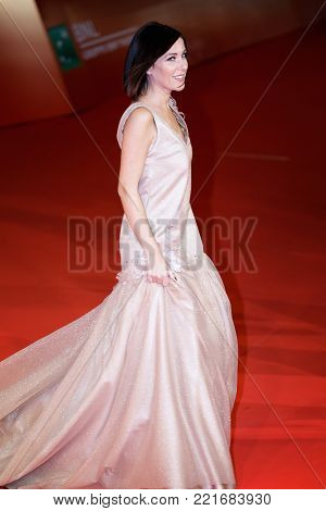 ROME, ITALY - OCTOBER 26: Kiara Tomaselli walks a red carpet for 'Hostiles' during the 12th Rome Film Fest at Auditorium Parco Della Musica.