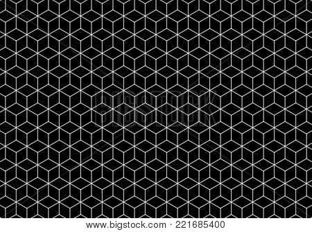 Hexagonal black and white pattern