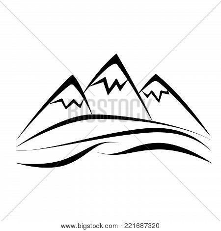 mountain icon vector vector photo free trial bigstock