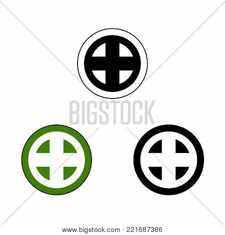 Shimazu samurai crest, vector graphic of the crest or mon of the Shimazu Japanese Samurai Clan.