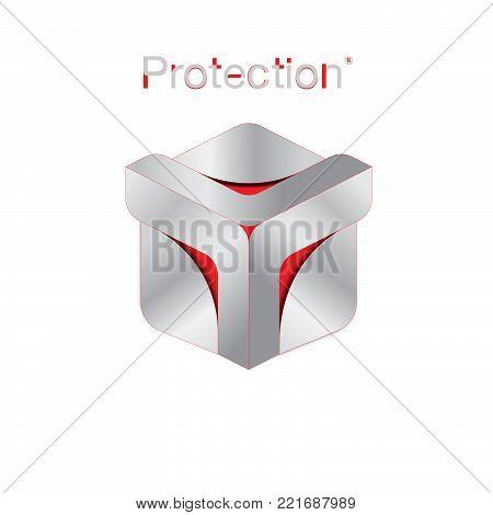 Protection logo vector image, creative abstract logo Shield design vector image