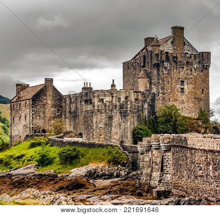This magnificent 13th century stone castle, Eilean Donan, sits on Loch Duich near the mouth of Loch Long in north-west Scotland