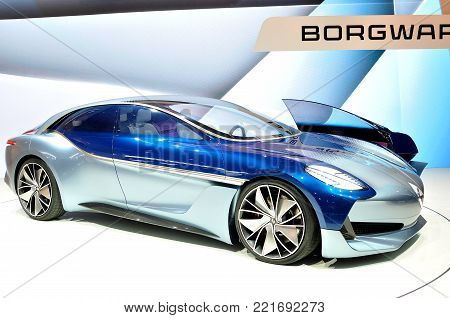 FRANKFURT - SEP 17: Borgward Isabella Concept on Internationale Automobil Ausstellung (IAA) on September 17, 2017 in Frankfurt, Germany.