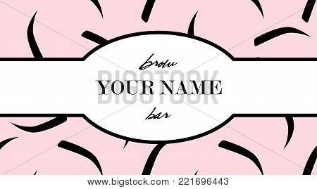 The Brow Bar Design Business Card Template For Beauty Studio With Eyebrow And With Eyebrows Seamless