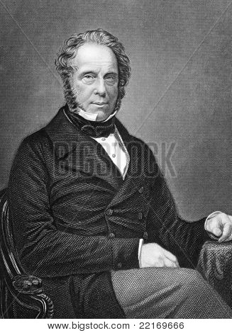 Henry John Temple (1784-1865). Engraved by D.J.Pound and published in The History of the Indian Mutiny, United Kingdom, 1858.