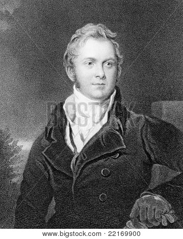 Frederick John Robinson (1782-1782). Engraved by J.Jenkins and published in the National Portrait Gallery encyclopedia, United Kingdom, 1835.