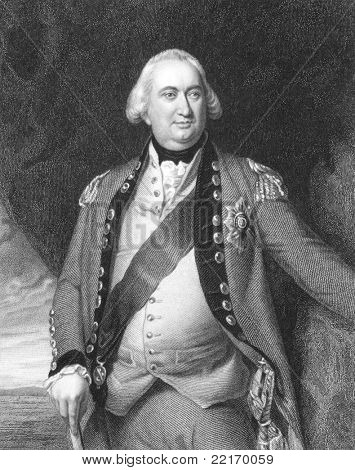 Charles Cornwallis (1738-1805). Engraved by S.Freeman  and published in The National Portrait Gallery Of Illustrious And Eminent Personages encyclopedia, United Kingdom, 1840.