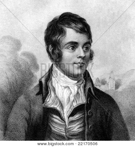 Robert Burns (1759-1796). Engraved by W.Clerk and published in A Biographical Dictionary of Eminent Scotsmen, United Kingdom, 1870.