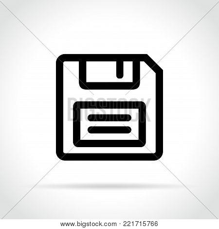 Illustration of floppy disk icon on white background