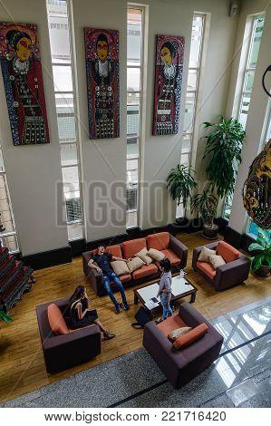 Interior Of Luxury Hotel In Bangkok, Thailand