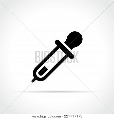 Illustration of pipette icon on white background