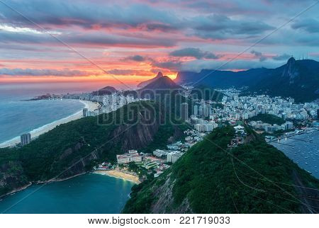 The Sugarloaf Mountain is Famous Landmark in Brazil