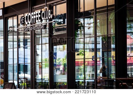 BANGKOK,THAILAND-SEPTEMBER 13: Photograph of The Coffee Club, the famous coffee shop in Bangkok. shoot on Sep 13, 2017 in Bangkok,Thailand.