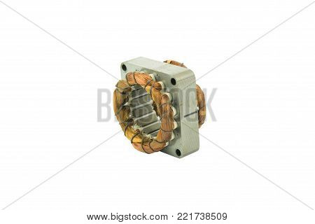 coil electric fan, isolated on white background