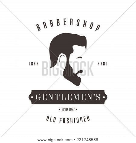 Vintage Barbershop logo for your design. Vector illustration.