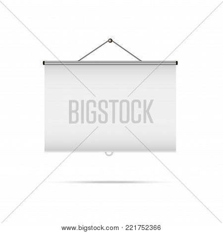Empty projection blank screen vector. Projection presentation