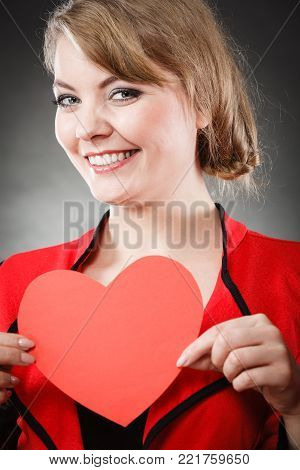Woman And Lovely Heart