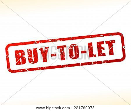 Illustration of buy to let red text stamp