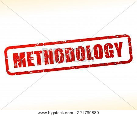 Illustration of methodology red text stamp concept