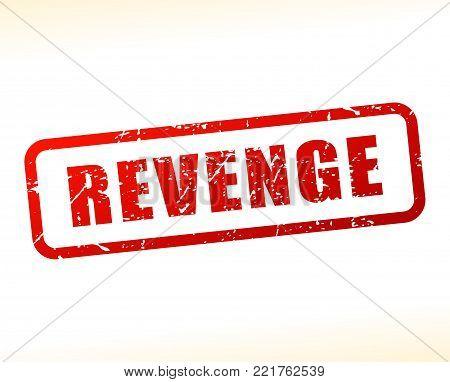 Illustration of revenge red text stamp concept