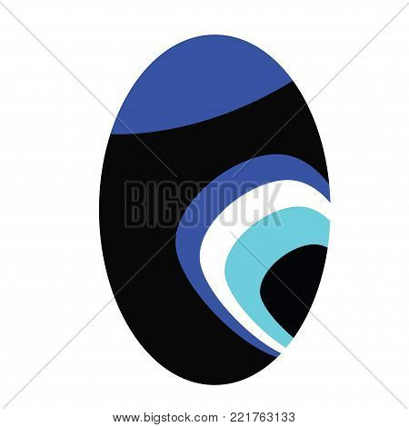 evil eye vector in oval shape - symbol of protection