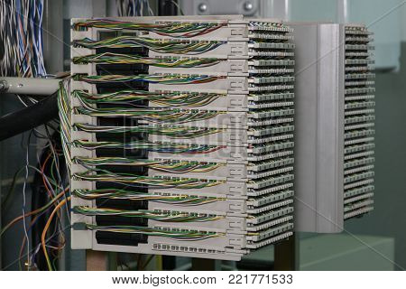 Main Distribution Frame in Telecom Center  Network