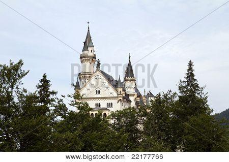 Neuschwanstein Castle Between Trees