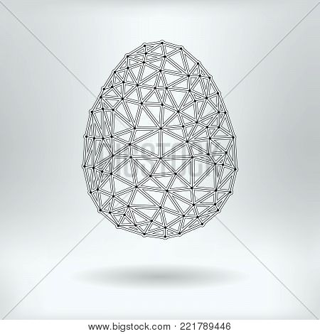 Vector Net Symbol of Egg - Reticulated Design