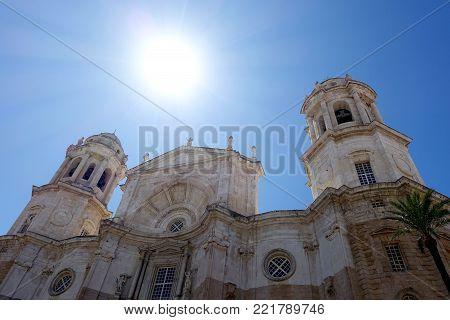 Catedral De Santa Cruz Church Façade, Cádiz, Southern Spain
