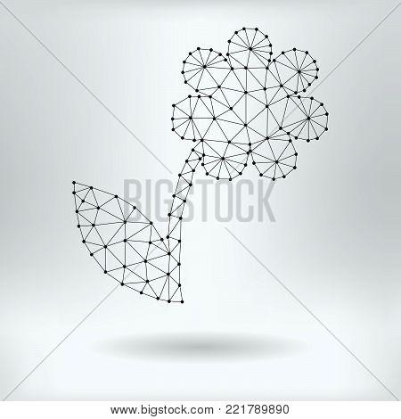 Vector Net Symbol of Apple - Reticulated Design
