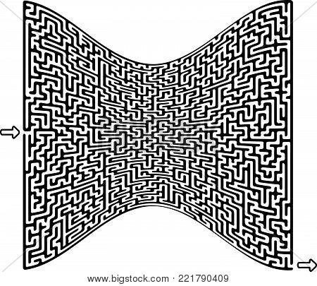 Vector Maze for Children - Labyrinth Illustration