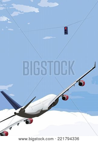 Neither an airplane, nor car moving at high speeds can stop immediately