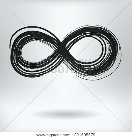 Cartoon Symbol of Infinity  - Mathematical Infinity Concept -  Drawing Sketch Vector Illustration