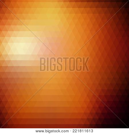 Vector Abstract Geometric Triangular Gradient Background. Trendy Triangle Polygonal Mosaic Template Pattern.