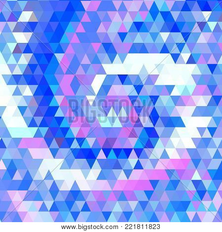 Vector Abstract Geometric Triangular Helix Background. Trendy Spiral Triangle Polygonal Mosaic Template Pattern.