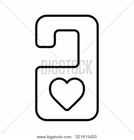 do not disturb door hanger. Vector simple icon. Outline design.