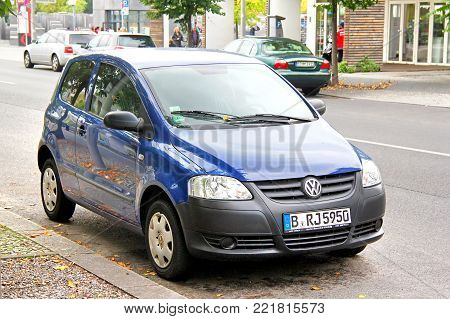 Berlin, Germany - September 12, 2013: Motor car Volkswagen Fox in the city street.