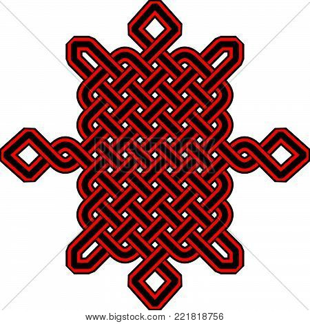 Celtic Pattern - Vector Ancient Pagan Scandinavian Sacred Knotwork Symbol poster
