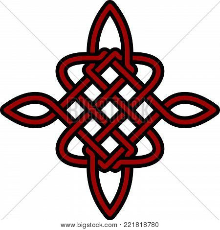 Celtic Pattern - Vector Ancient Pagan Scandinavian Sacred Knotwork Symbol