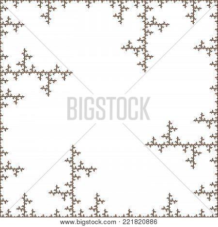 Flat Vector Computer Generated    L-system  Fractal Koch Crystal - Generative Art