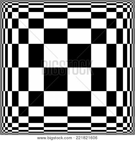 Checkered Displacement - Optical Illusion - Vector Illustration