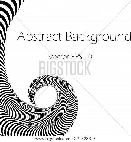 Abstract Vector Black and White  Background  with Tentacles Plexus